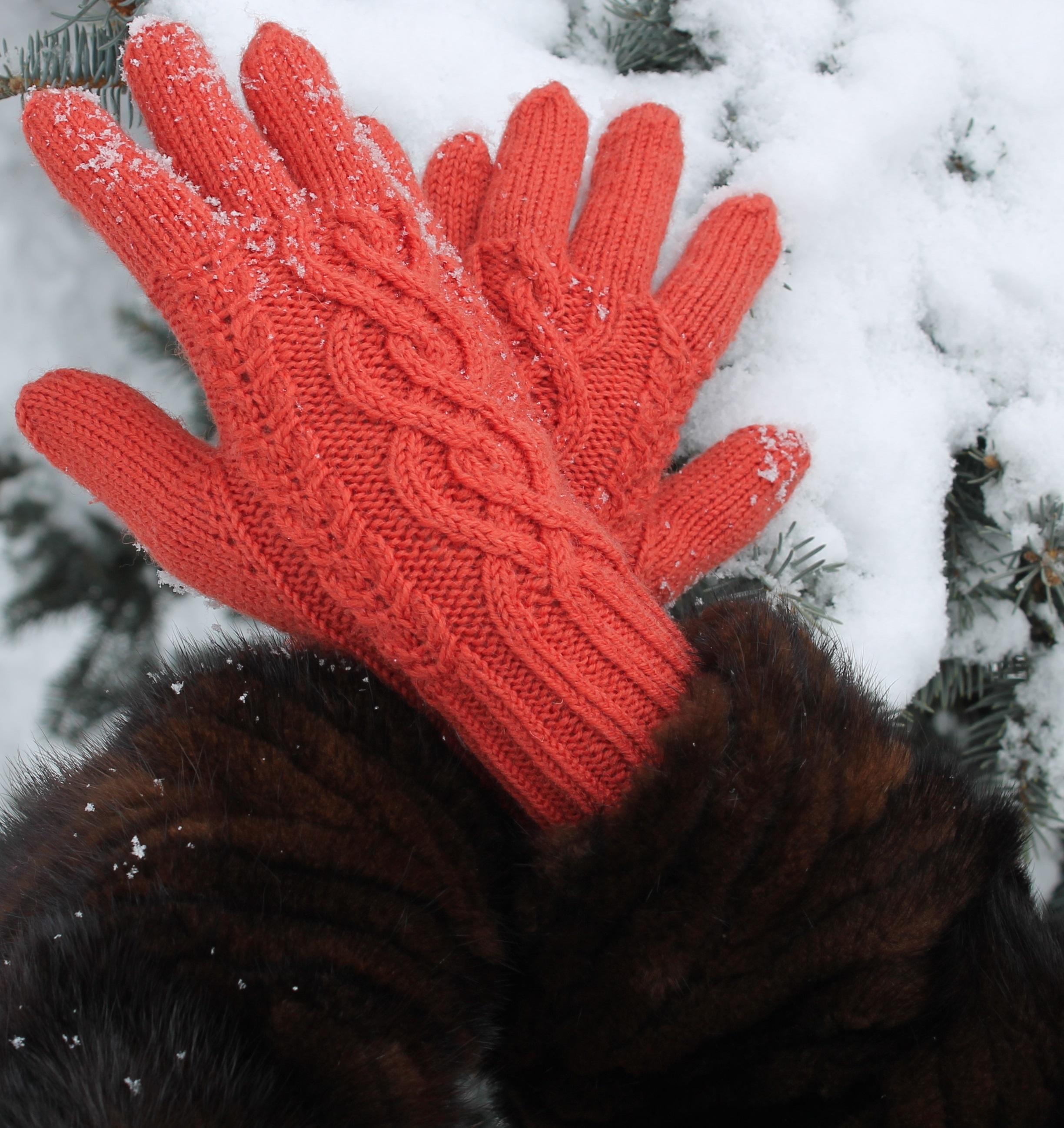 схемы вязание перчаток на спицах